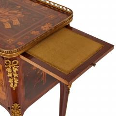 Antique gilt bronze mounted occasional table with marquetry panels - 1683200