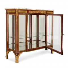 Antique gilt bronze mounted vitrine cabinet - 1481585