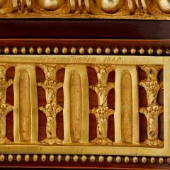 Antique gilt bronze mounted vitrine cabinet - 1481595