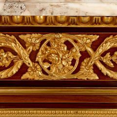 Antique gilt bronze mounted vitrine cabinet - 1481601