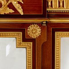 Antique gilt bronze mounted vitrine cabinet - 1481603