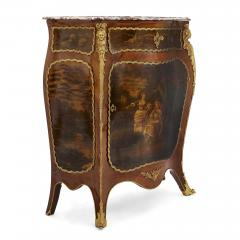 Antique kingwood gilt bronze and vernis Martin side cabinet - 1577171