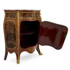 Antique kingwood gilt bronze and vernis Martin side cabinet - 1577172