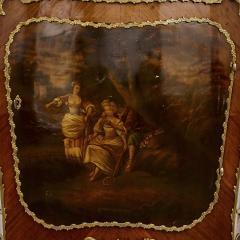 Antique kingwood gilt bronze and vernis Martin side cabinet - 1577174