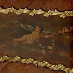 Antique kingwood gilt bronze and vernis Martin side cabinet - 1577178