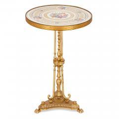 Antique porcelain and ormolu gueridon table - 1626934