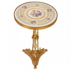 Antique porcelain and ormolu gueridon table - 1626935