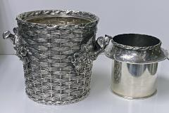Antique silver plated trompe loeil Wine Cooler Bucket England C 1880 - 1821142