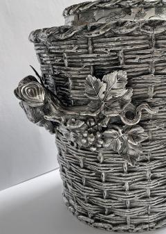 Antique silver plated trompe loeil Wine Cooler Bucket England C 1880 - 1821144