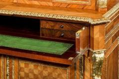 Antique tulipwood bureau bookcase - 825321