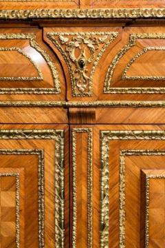 Antique tulipwood bureau bookcase - 825323