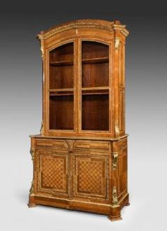 Antique tulipwood bureau bookcase - 825325