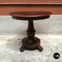 Antique wood round table 1800s - 1936071