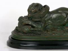 Antoine Louis Barye Tiger Devouring a Gavial Bronze Sculpture after Antoine Louis Barye 19th C  - 1066376