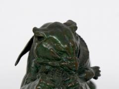 Antoine Louis Barye Tiger Devouring a Gavial Bronze Sculpture after Antoine Louis Barye 19th C  - 1066381