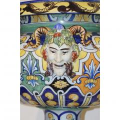Antoine Montagnon Montagnon French 19th Century Blue Yellow Green Majolica Jardini re on Stand - 815501