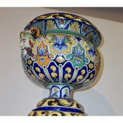 Antoine Montagnon Montagnon French 19th Century Blue Yellow Green Majolica Jardini re on Stand - 815502