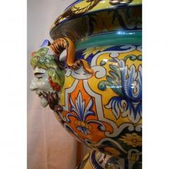 Antoine Montagnon Montagnon French 19th Century Blue Yellow Green Majolica Jardini re on Stand - 815504