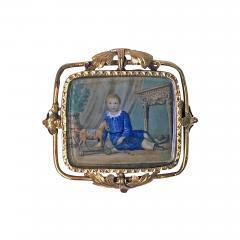 Anton Graff Swiss Gold Portrait Miniature C 1800 attributed Anton Graff - 512834