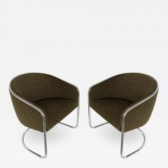 Anton Lorenz Pair of Tub Dining or Lounge Chairs by Joan Burgasser Anton Lorenz for Thonet - 1225926