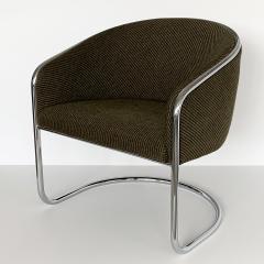 Anton Lorenz Set of 8 Tub Dining Chairs by Joan Burgasser Anton Lorenz for Thonet - 1162621