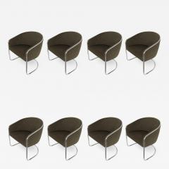 Anton Lorenz Set of 8 Tub Dining Chairs by Joan Burgasser Anton Lorenz for Thonet - 1163208