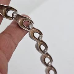 Antonio Belgiorno Modernist Geometric Silver Chain Link Bracelet Argentina 1950s - 1898039