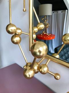 Antonio Cagianelli Contemporary Mirror Atomic Gold Leaf by Antonio Cagianelli Italy - 522756