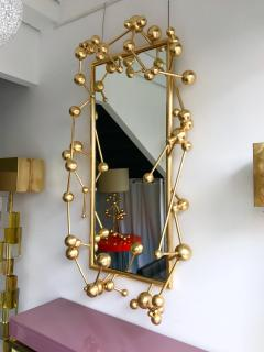 Antonio Cagianelli Contemporary Mirror Atomic Gold Leaf by Antonio Cagianelli Italy - 522757