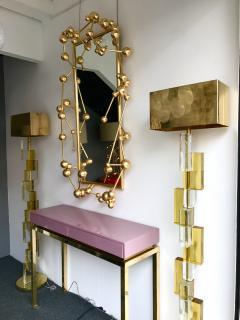Antonio Cagianelli Contemporary Mirror Atomic Gold Leaf by Antonio Cagianelli Italy - 522758