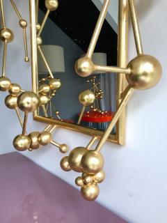 Antonio Cagianelli Contemporary Mirror Atomic Gold Leaf by Antonio Cagianelli Italy - 522760
