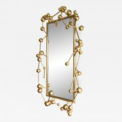 Antonio Cagianelli Contemporary Mirror Atomic Gold Leaf by Antonio Cagianelli Italy - 531370