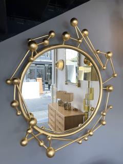 Antonio Cagianelli Contemporary Mirror Atomo Iron Gold Leaf by Antonio Cagianelli Italy - 1919128