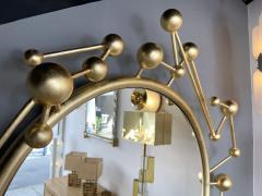 Antonio Cagianelli Contemporary Mirror Atomo Iron Gold Leaf by Antonio Cagianelli Italy - 1919133