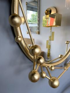 Antonio Cagianelli Contemporary Mirror Atomo Iron Gold Leaf by Antonio Cagianelli Italy - 1919134