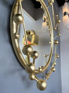 Antonio Cagianelli Contemporary Mirror Atomo Iron Gold Leaf by Antonio Cagianelli Italy - 1919135