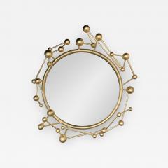 Antonio Cagianelli Contemporary Mirror Atomo Iron Gold Leaf by Antonio Cagianelli Italy - 1919896