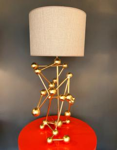 Antonio Cagianelli Contemporary Pair of Lamps Atomic Gold Leaf by Antonio Cagianelli Italy - 522384