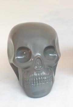 Antonio Cagianelli Contemporary Stool Skull in Grey Ceramic by Antonio Cagianelli - 522003