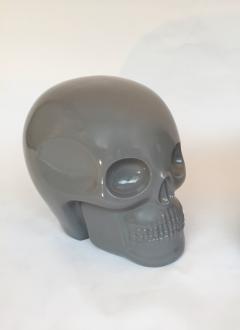 Antonio Cagianelli Contemporary Stool Skull in Grey Ceramic by Antonio Cagianelli - 522004