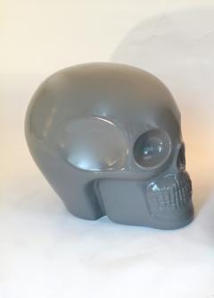 Antonio Cagianelli Contemporary Stool Skull in Grey Ceramic by Antonio Cagianelli - 522008