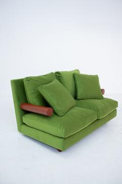 Antonio Citterio B B ITALIA BAISITY Sofa by Antonio Citterio in green velvet 1980s - 1884814