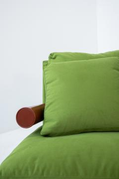 Antonio Citterio B B ITALIA BAISITY Sofa by Antonio Citterio in green velvet 1980s - 1884815