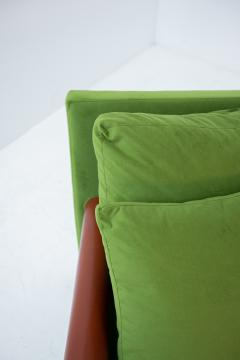 Antonio Citterio B B ITALIA BAISITY Sofa by Antonio Citterio in green velvet 1980s - 1884818
