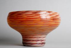 Antonio Da Ros Glass Bowl with Caramel Brown and Yellow Swirl Design - 364104