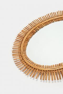 Antonio Dal Vera Figli Wall mirror with bamboo rim Italy 50s - 2016196