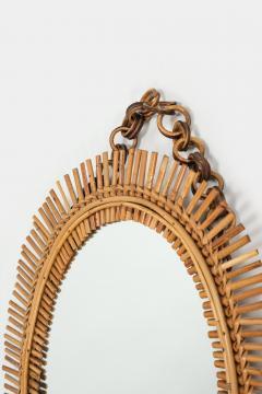 Antonio Dal Vera Figli Wall mirror with bamboo rim Italy 50s - 2016200