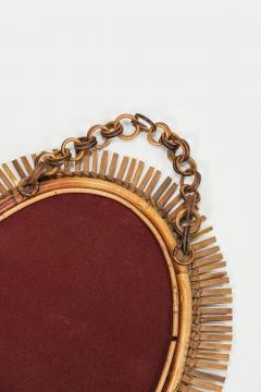 Antonio Dal Vera Figli Wall mirror with bamboo rim Italy 50s - 2016201