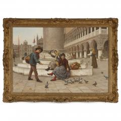 Antonio Ermolao Paoletti Italian oil painting of St Marks Square by Paoletti - 1569858