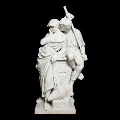 Antonio Frilli Large marble sculpture of an amorous couple by Antonio Frilli - 1683196